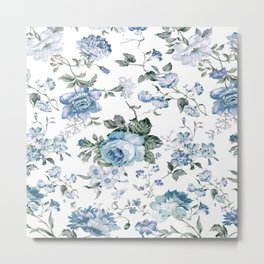 Christine blue Metal Print
