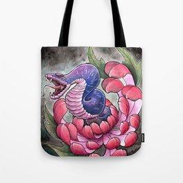 Chrysanthemum Snake Tote Bag