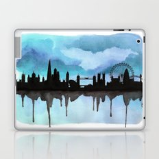 Turquoise London Skyline 2 Laptop & iPad Skin