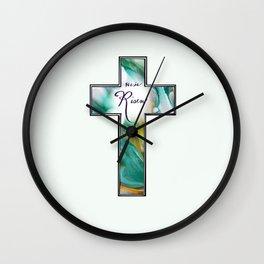 He is Risen Cross Wall Clock