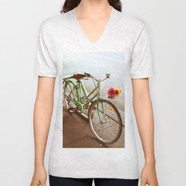 MINTY BIKE Unisex V-Neck