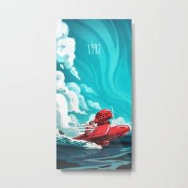 Porco Rosso Metal Print