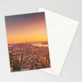 New York City Sunset Skyline Stationery Cards