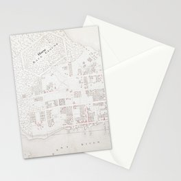Vintage Map of New Bern NC (1769) Stationery Cards