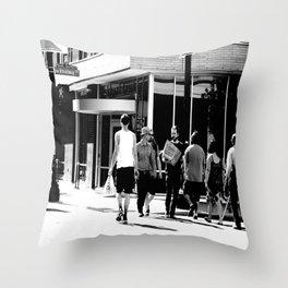Never Met Throw Pillow