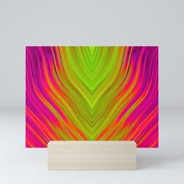 stripes wave pattern 3 w81 Mini Art Print