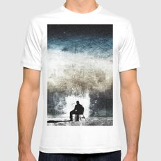 City Thoughts White Mens Fitted Tee MEDIUM