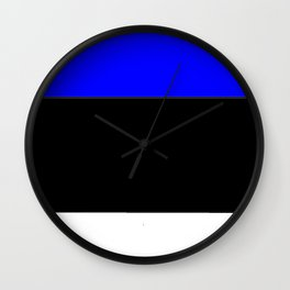 Flag of estonia 2-estonian,baltic,tallinn,tartu,eesti,balti,slav,viking,baltico,parnu Wall Clock