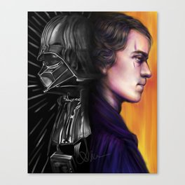 """""""I was but the learner; Now, I am the master."""" Anakin/Darth Vader Canvas Print"""
