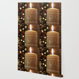 Christmas candle vertical Wallpaper