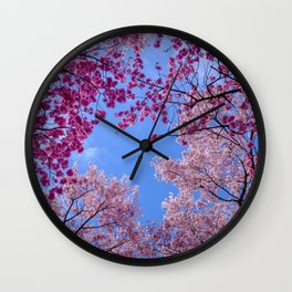 Cherry blossom explosion Wall Clock