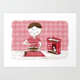 Log Cereal Art Print