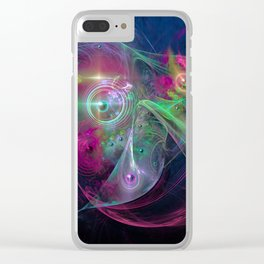 Magnetic fields Clear iPhone Case