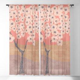 Janie's Pear Tree Sheer Curtain