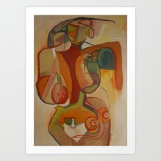 Abstract Nude Art Print