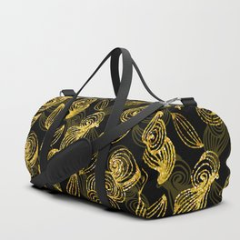 Golden Decorated Christmas Pattern 2 Duffle Bag