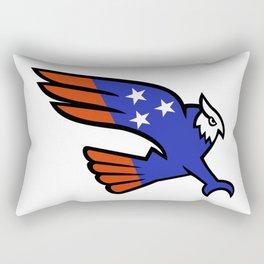 American Owl Swooping Mascot Rectangular Pillow