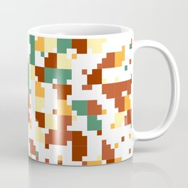 Waiting for Fall - Random Pixel Pattern in Green, Orange and Yellow Coffee Mug