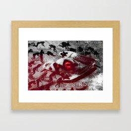 Into The Grey Framed Art Print