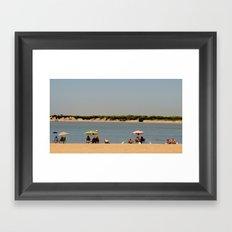 Color me with sun Framed Art Print