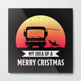 Merry Christmas | Camper van RV Gift Metal Print