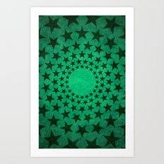 Green Stars Art Print