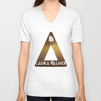 laura palmer V-neck T-shirts featuring Bastille #1 Laura Palmer by Thafrayer