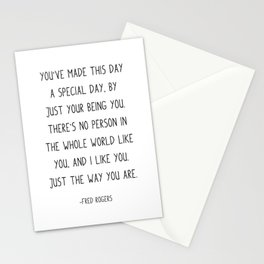 You've made this day a special day, Stationery Cards