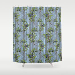 Blueberry Branches Shower Curtain