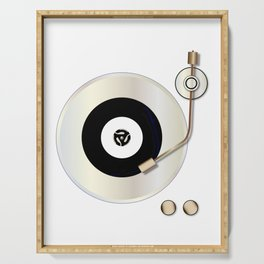 Record Player Serving Tray