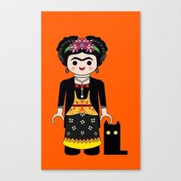 Frida playmobil Canvas Print