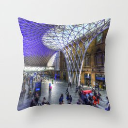 Kings Cross Station London Throw Pillow