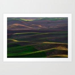 The Palouse Hills at Sunset Art Print