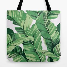 Tropical banana leaves V Tote Bag