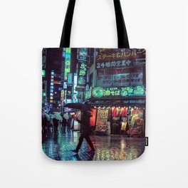 Tokyo Nights / Blade Runner Vibes / Rain / Liam Wong Tote Bag