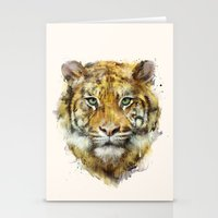 tiger Stationery Cards featuring Tiger // Strength by Amy Hamilton