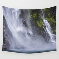 waterfall Wall Tapestries featuring Waterfall.. by Michelle McConnell