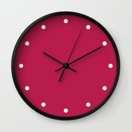 Dots Cerise Wall Clock