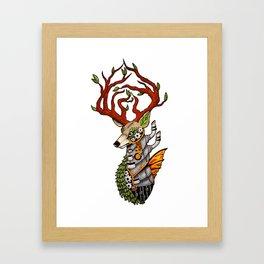 Steampunk Deer Framed Art Print