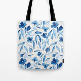 Prussian Floral Tote Bag