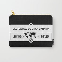 Las Palmas de Gran Canaria Canary Islands with World Map GPS Carry-All Pouch