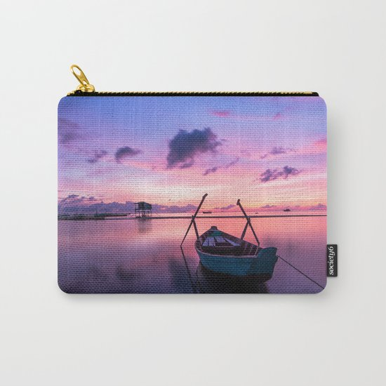Boat and Sunrise Carry-All Pouch