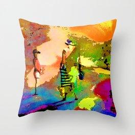 jardin multicolore Throw Pillow