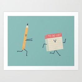 To Do List Art Print
