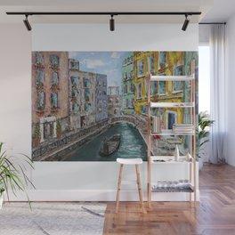 Venice Girl & Gondola Wall Mural