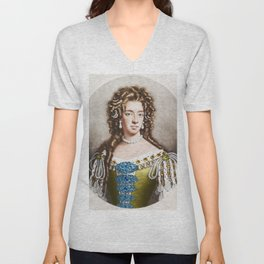 """Empress Consort"" Portrait Painting by Jeanpaul Ferro Unisex V-Neck"