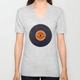 Vinyl Record Art & Design | World Post Unisex V-Neck