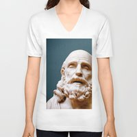 philosophy V-neck T-shirts featuring Philosophy of Pleasure by youngkinderhook