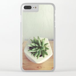 Succulent Geos Clear iPhone Case
