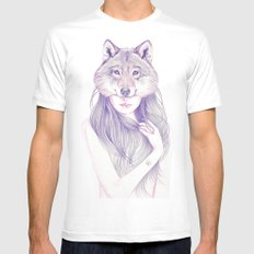 Wolfheart MEDIUM White Mens Fitted Tee